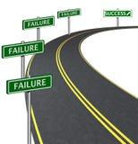 通过许多失败达到成功 免版税图库摄影