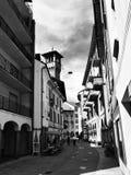 通过Camminata,贝林佐纳,小行政区提契诺州 瑞士 库存照片