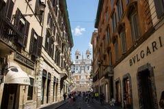 通过dei Condotti在罗马 免版税库存图片