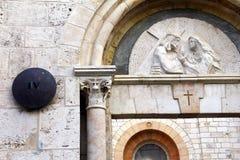 通过Dolorosa。第四驻地中止耶稣基督。耶路撒冷,以色列。 免版税库存图片