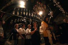 通过Dolorosa,第12个苦路 耶路撒冷 免版税库存照片