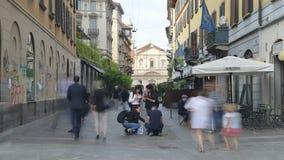 通过Lazzaro Spallanzani时间间隔在米兰波尔塔Venezia区  影视素材