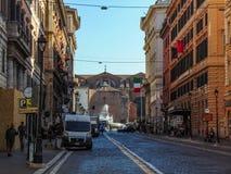 通过Nazionale,罗马-意大利 免版税库存照片