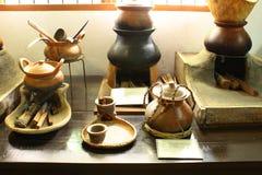 通过s泰国的陶器 库存图片