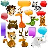 通配动物的动画片 库存照片