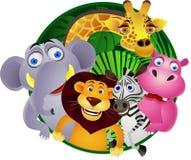 通配动物的动画片 免版税库存照片