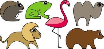 通配动物的向量 免版税库存图片