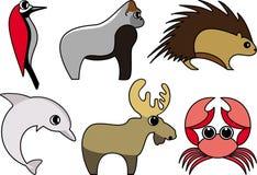 通配动物的向量 免版税库存照片