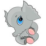 通配动物婴孩动画片大象的图标 库存图片
