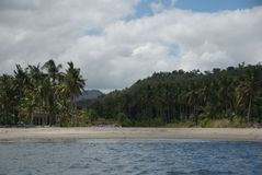 通配巴厘岛的海滩 免版税库存图片