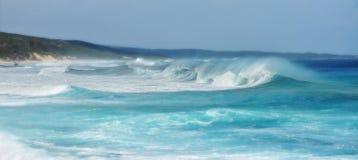 通配海岸的海浪 库存图片