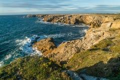 通配海岸的quiberon 免版税库存图片