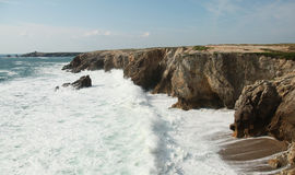 通配海岸的quiberon 免版税图库摄影