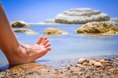 通配海滩(西西里岛,意大利) 免版税库存照片
