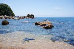 通配的海滩 免版税库存照片