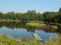 通配的湖 库存图片