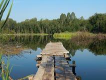 通配的湖 库存照片