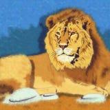通配的猫 狮子 免版税图库摄影