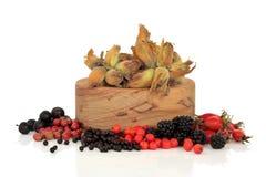 通配秋天的食物 免版税库存图片