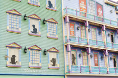 通配西部大西洋娱乐场城市的门面 免版税库存图片