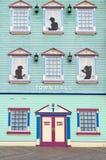 通配西部大西洋娱乐场城市的门面 免版税库存照片