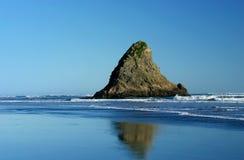 通配西部海滩的海岸 库存图片