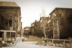 通配西部的城镇 库存照片