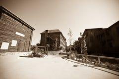 通配西部的城镇 库存图片