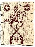 通配西部的海报 库存图片