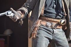 通配西部的牛仔 免版税库存照片