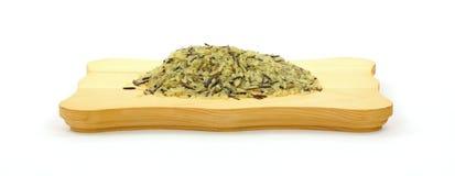 通配谷物长的米的调味料 免版税库存照片