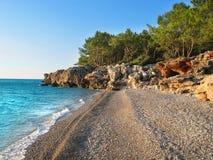 通配antalya的海滩 免版税图库摄影