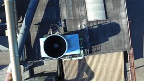 通风系统鸟瞰图在屋顶的 影视素材