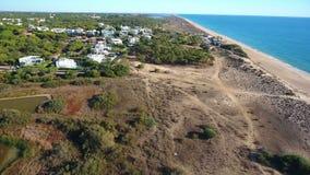 通风 一条寄生虫的录影射击在海滩Vale de Lobo,阿尔加威的 股票录像