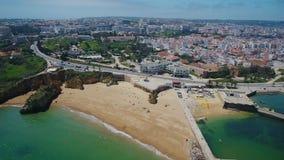 通风 从拉各斯葡萄牙的天空的射击,在船坞的一个看法 影视素材