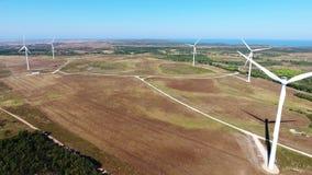 通风 在造风机的录影射击飞行在肋前缘Vicentina 萨格里什 股票录像