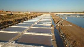 通风 盐干燥的湖在Tavira,工作的推力 影视素材