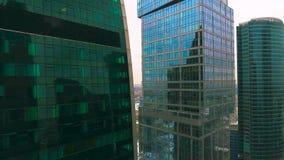 通风 都市大厦的办公室 摩天大楼建筑学在城市 影视素材