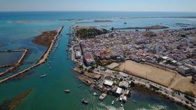 通风 Fuseta海湾海的渔村和看法 股票视频