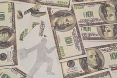 通货膨胀和人们 免版税库存照片