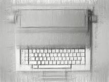 速写与铅笔打字机 免版税库存照片