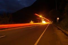 速度在晚上 免版税库存照片