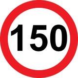 150速度局限路标 免版税库存图片