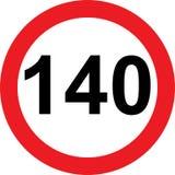 140速度局限路标 库存照片