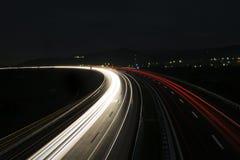 速度早晨交通行动迷离在欧洲 图库摄影