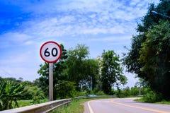 速度有限的60km/h警报信号 库存图片