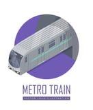 速度火车在等角投影的传染媒介象 皇族释放例证