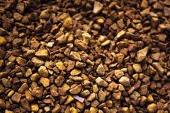 速溶咖啡堆优质背景的特写镜头的 免版税库存照片