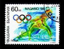 速滑,冬奥会1998年-长野serie,大约19 免版税图库摄影