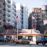 速食餐厅在曼哈顿纽约美国 免版税库存图片